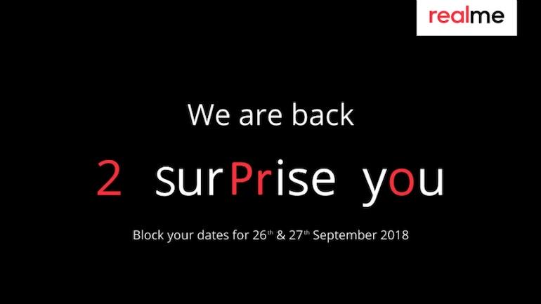 Realme 2 Pro 27 सितंबर को हो सकता है भारत में लॉन्च