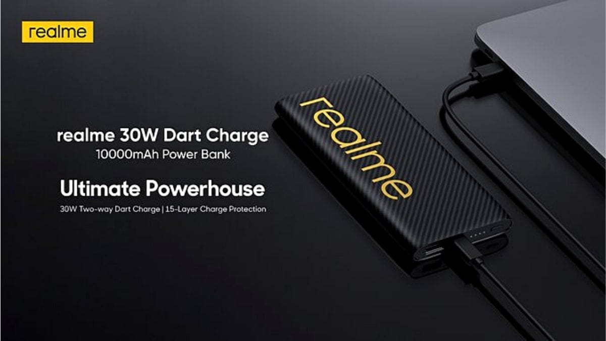 Realme 30W Dart Power Bank With 10,000mAh Capacity to Launch in India on July 14, Company Reveals