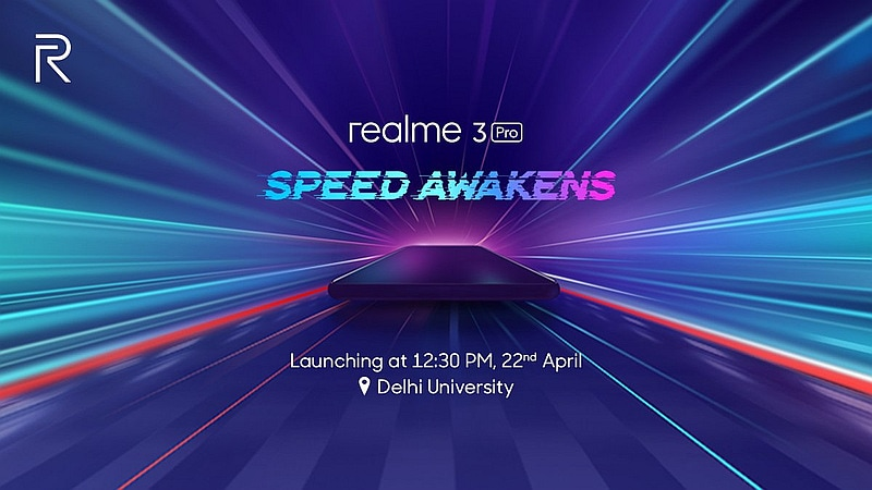 Realme 3 Pro India Launch Set for April 22, Will Compete With Redmi Note 7 Pro
