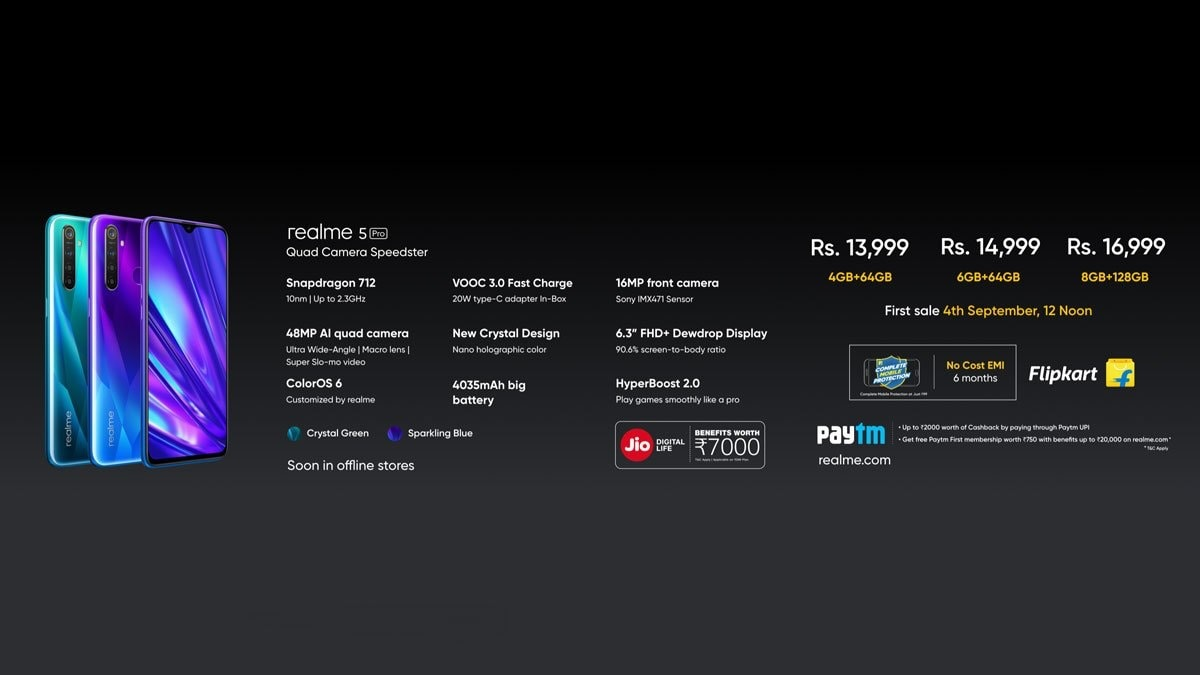 realme 5 pro price twiter Realme 5 Pro price