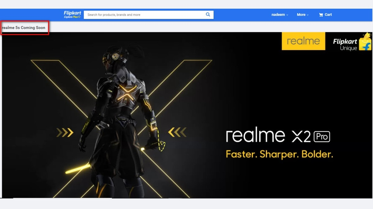 Realme X2 Pro Flipkart Teaser Page Shows Realme 5s Is Coming Soon