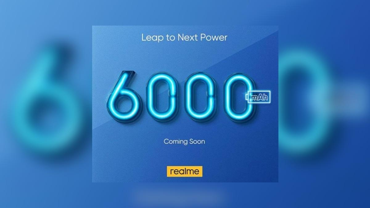 Realme पेश करेगी 6,000 एमएएच बैटरी वाला स्मार्टफोन, टीज़र ज़ारी
