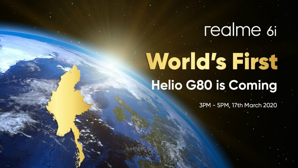 Realme 6i With MediaTek Helio G80 SoC, 18W Quick Charge Support Set to Launch on March 17