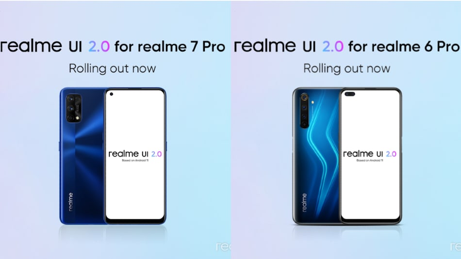 Realme 7 Pro, Realme 6 Pro Getting Android 11-Based Realme UI 2.0 Update in India