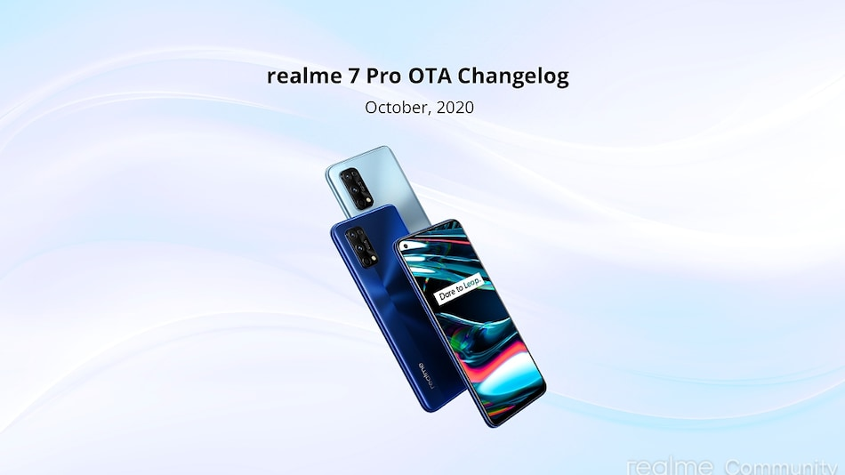 Realme 7 Pro Receiving October 2020 Update in India With Camera Optimisations
