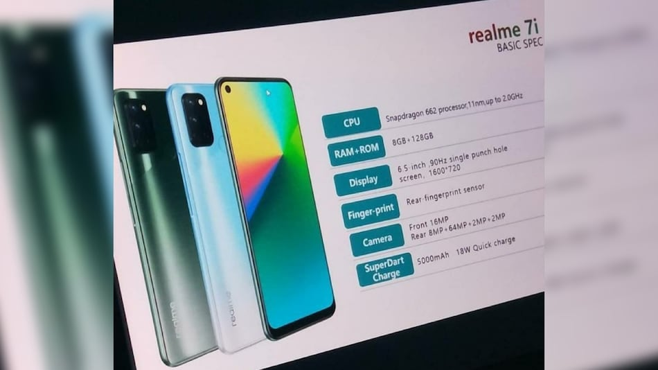 Realme 7i Set to Launch on September 17, Snapdragon 662 SoC and Quad Rear Cameras Tipped