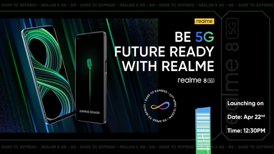 Realme 8 5G Set to Launch in India on April 22: Expected Specifications, More Details