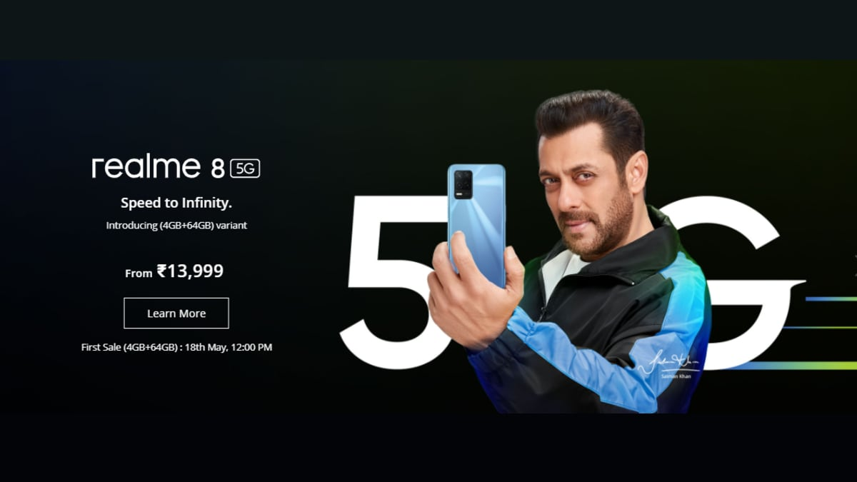 Realme 8 5G 4GB RAM + 64GB Storage Model Launched in India