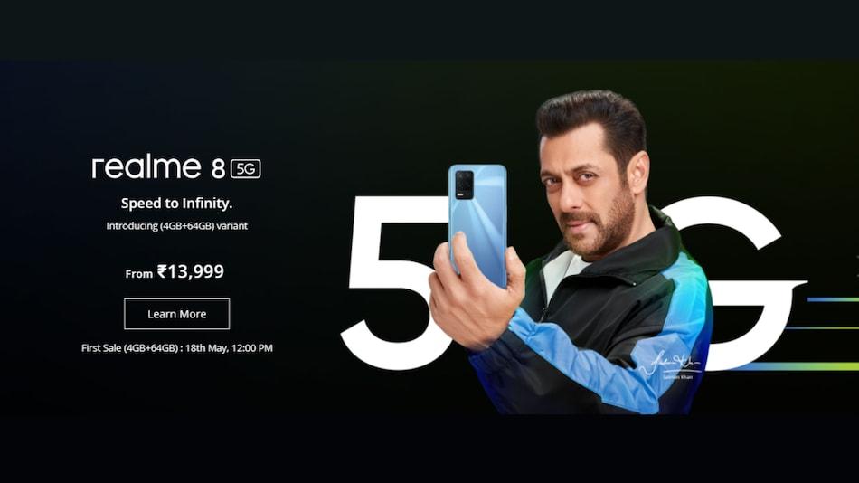 5000mAh बैटरी वाले Realme 8 5G का 4GB रैम और 64GB स्टोरेज मॉडल भारत में लॉन्च, जानें कीमत