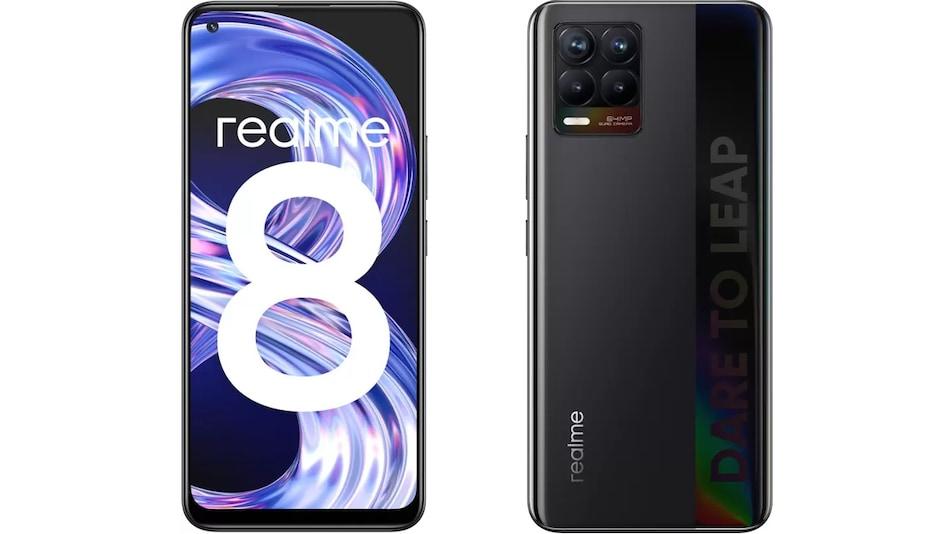 Realme 8 फोन के 6 जीबी + 128 जीबी स्टोरेज वेरिएंट की सेल आज, जानें कीमत और स्पेसिफिकेशन