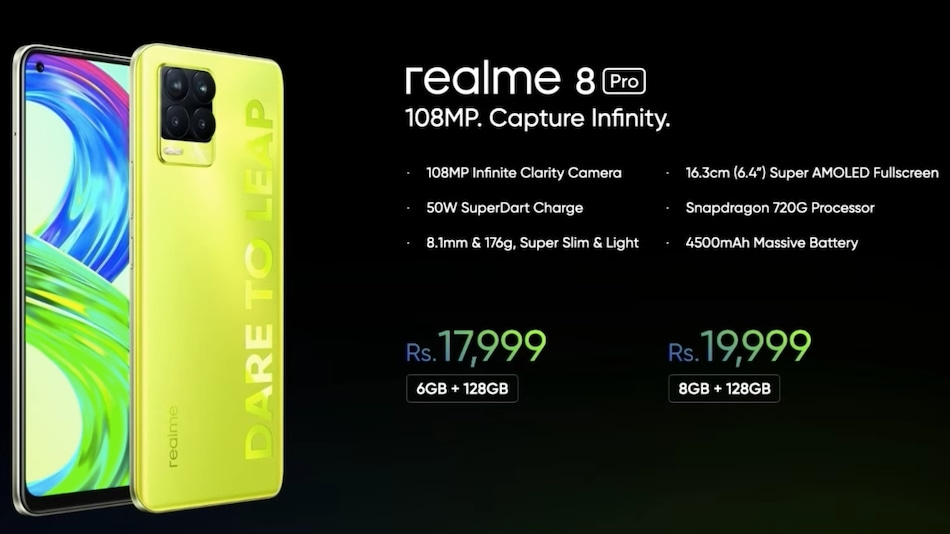 Realme 8 Pro Illuminating Yellow Colour Variant Launched in India, Realme X7 Max Teased