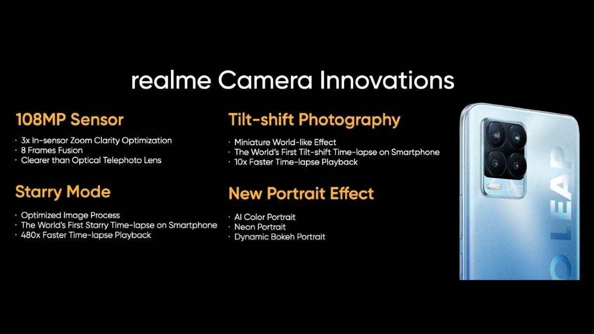 Realme 8 Pro में फ़ीचर 108-मेगापिक्सेल प्राइमरी कैमरा, कंपनी की घोषणा
