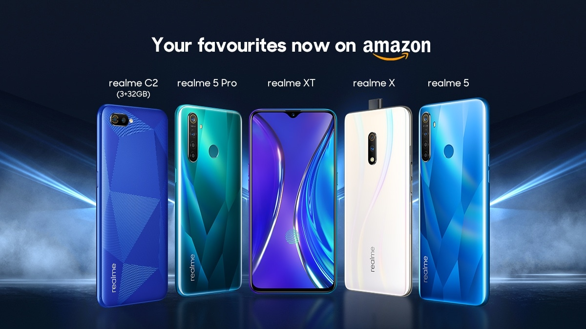Realme 5 Pro, Realme 5, Realme XT, Realme X, Realme C2 to Now Be Sold via Amazon.in as Well