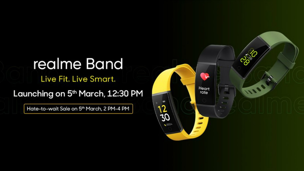 Realme Band Set to Go on Sale in India Just After Its Official Launch on March 5, India CEO Madhav Sheth Reveals