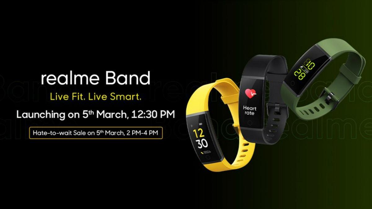 Realme Band की पहली सेल लॉन्च के दिन ही होगी आयोजित