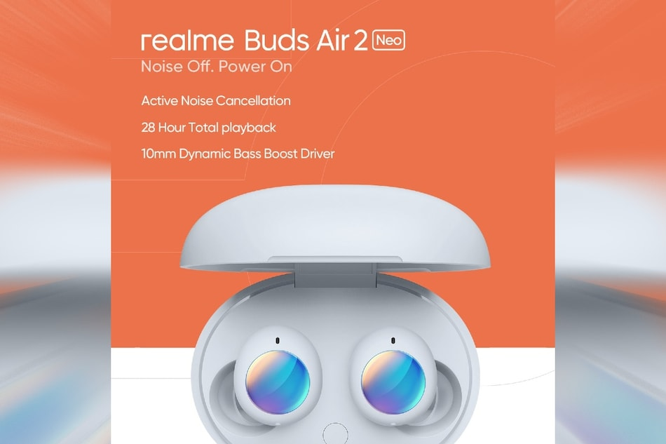 Realme Buds Air 2 Neo TWS Earbuds With Up to 28 Hours of Battery Life Launching on April 7