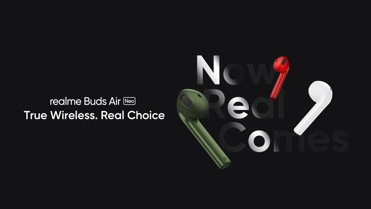 Realme Buds Air Neo True Wireless Earphones to Be Unveiled on May 25 Alongside Realme TV and Realme Watch