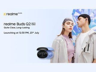 Realme Buds Q2 Neo TWS Earbuds to Launch in India on July 23 With 20 Hours of Playback Time