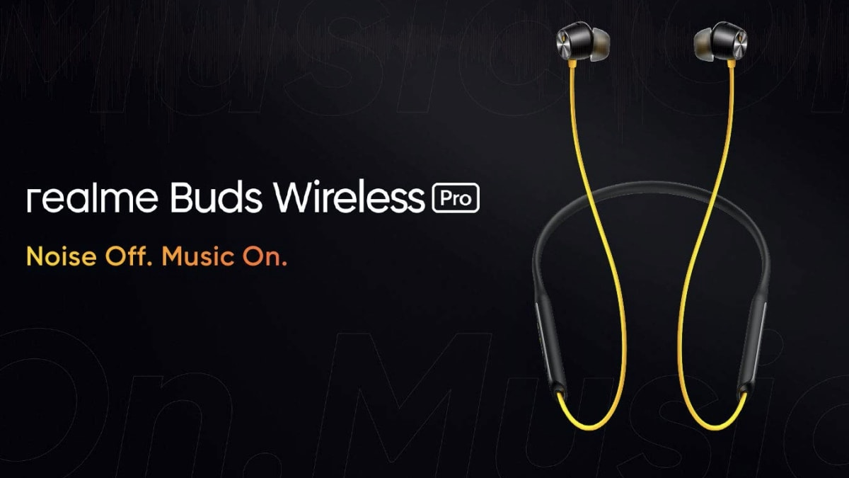 Realme Buds Wireless Pro earphones will be launched in India on October 7