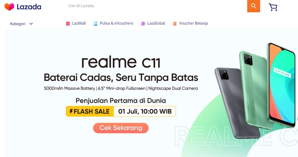 Realme C11 Teased on Retail Site Ahead of Launch, Renders and Specifications Revealed