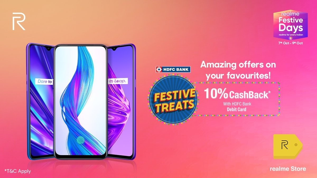 Realme Festive Days Sale Is Back With Discounts on Realme 5, Realme 5 Pro, and More