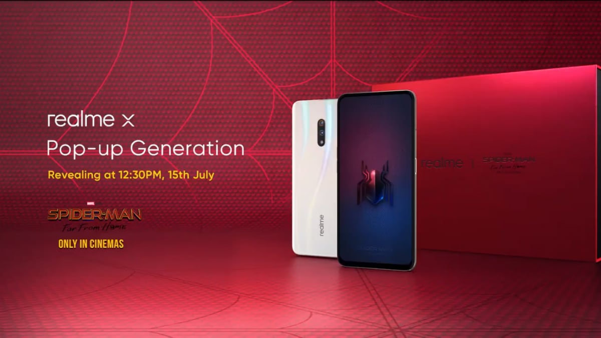 Realme X India Launch Set for July 15, Spider-Man: Far From Home Edition to Arrive Alongside