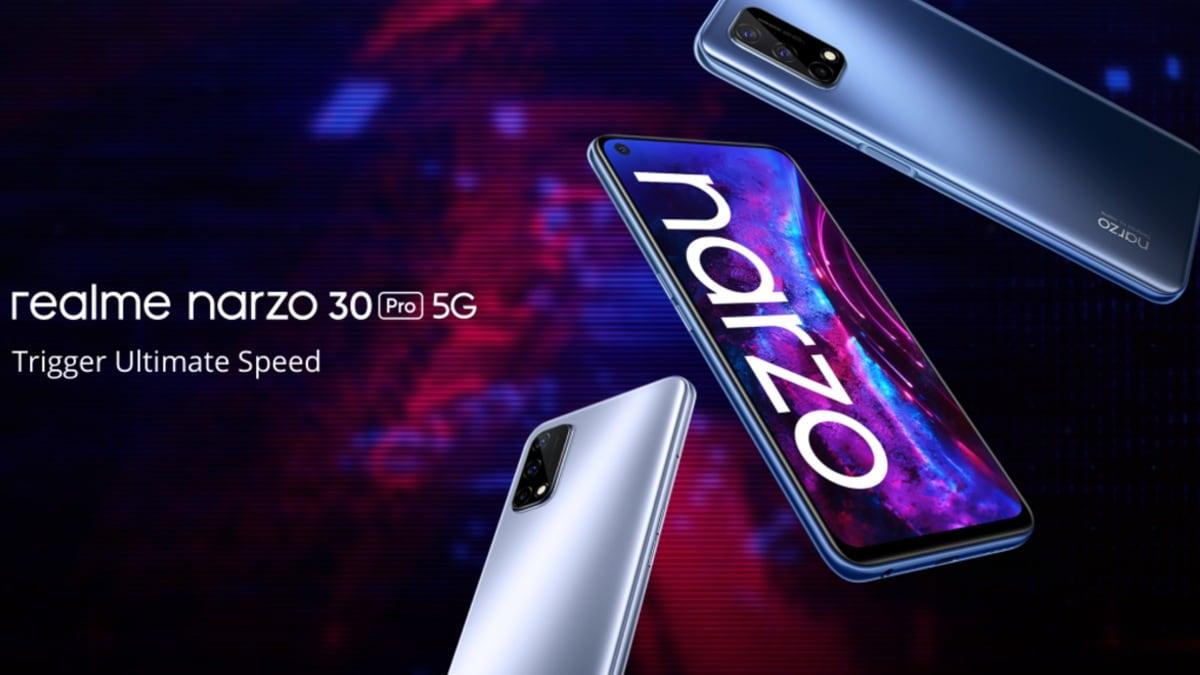 Realme Narzo 30 Pro 5G भारत में आज बिक्री पर जाता है