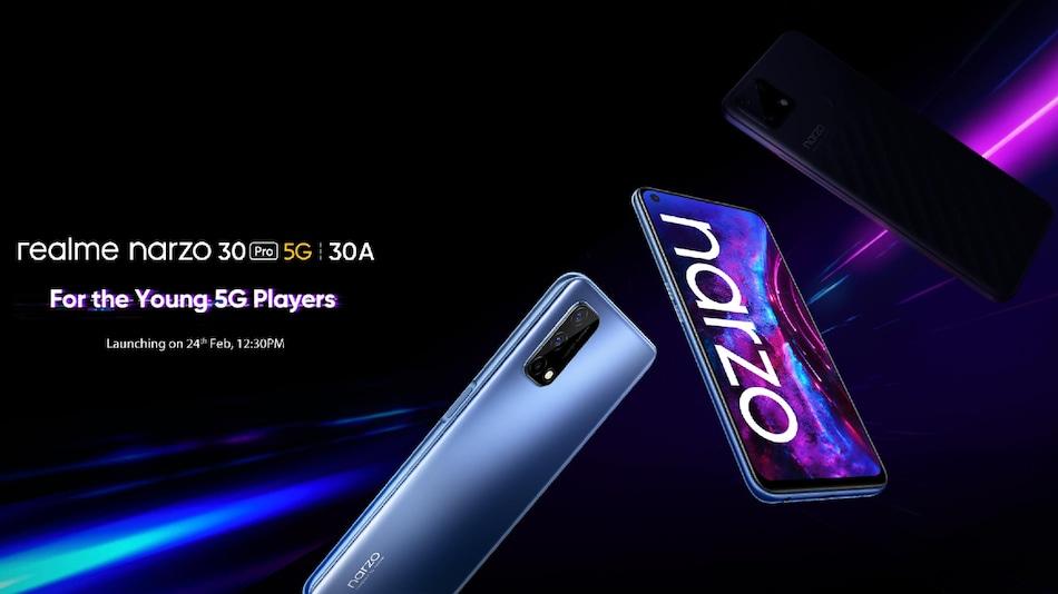 Realme Narzo 30 Pro 5G, Realme Narzo 30A, Buds Air 2 भारत में 24 फरवरी को होंगे लॉन्च