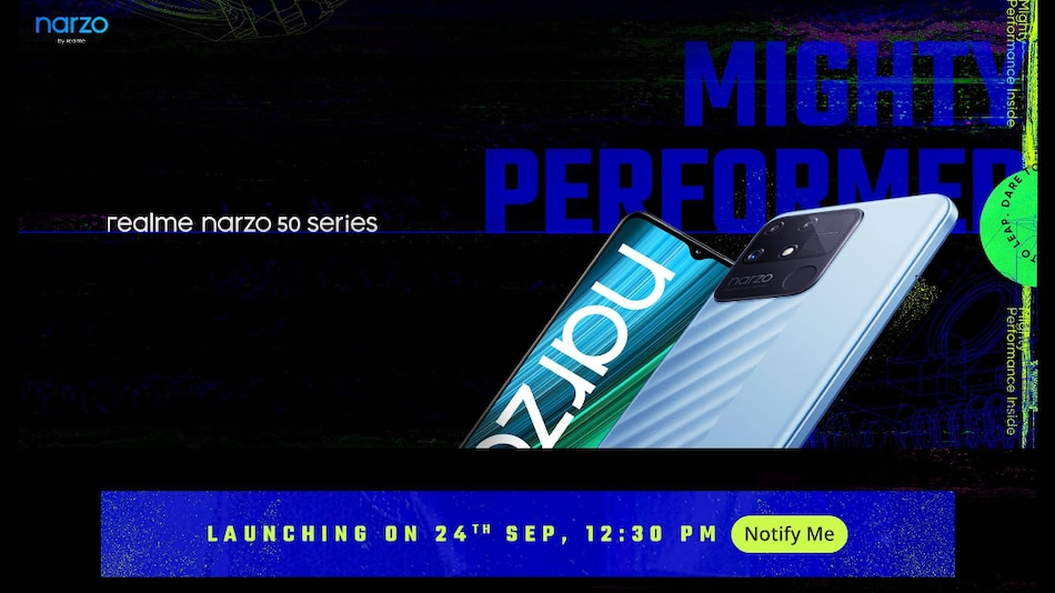 Realme Narzo 50 Series India Launch Set for September 24, Realme Band 2 and Smart TV Neo 32-Inch Also Coming