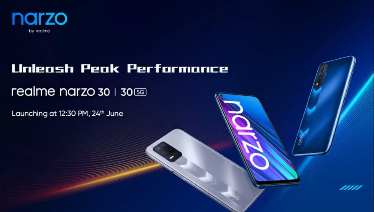 Realme Narzo 30 5G, Narzo 30, 32-Inch Smart TV to Launch in India on June 24