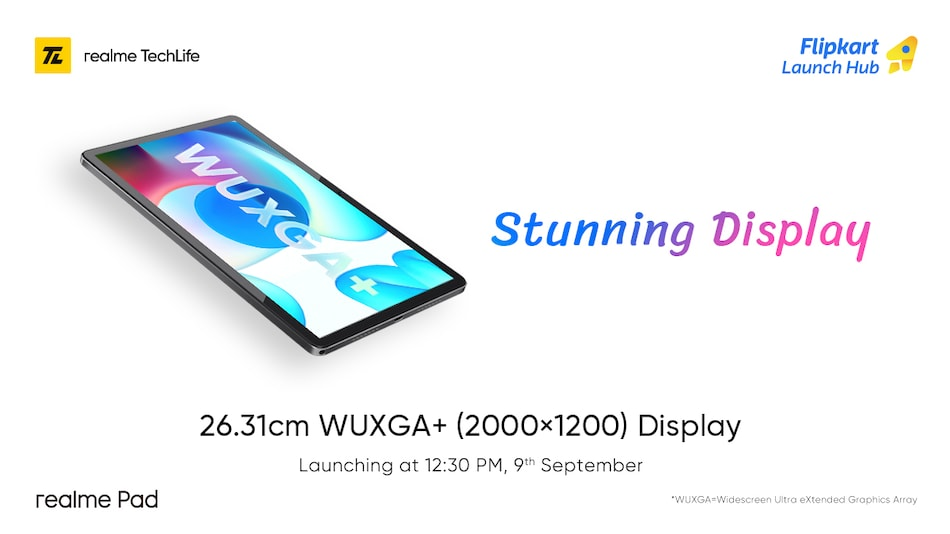 Realme Pad Tablet Display Specifications, Design Teased Ahead of Launch
