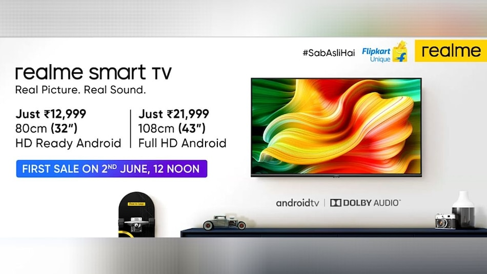 Realme Smart TV to Go on Sale Today at 12 Noon via Flipkart, Realme Site: Price in India, Specifications