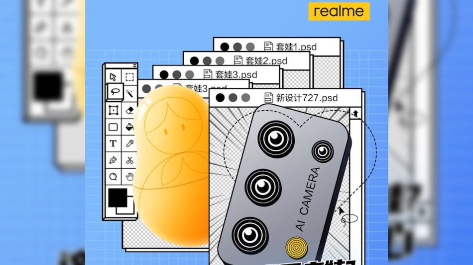Realme's New Phone Teased to Carry Quad Rear Cameras With AI Tweaks