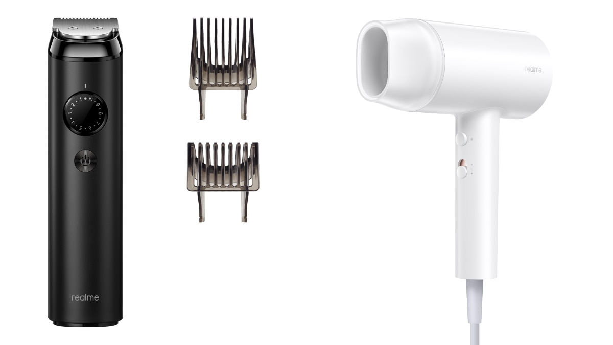 realme trimmer hair dryer intext Realme Trimmer and Hair Dryer
