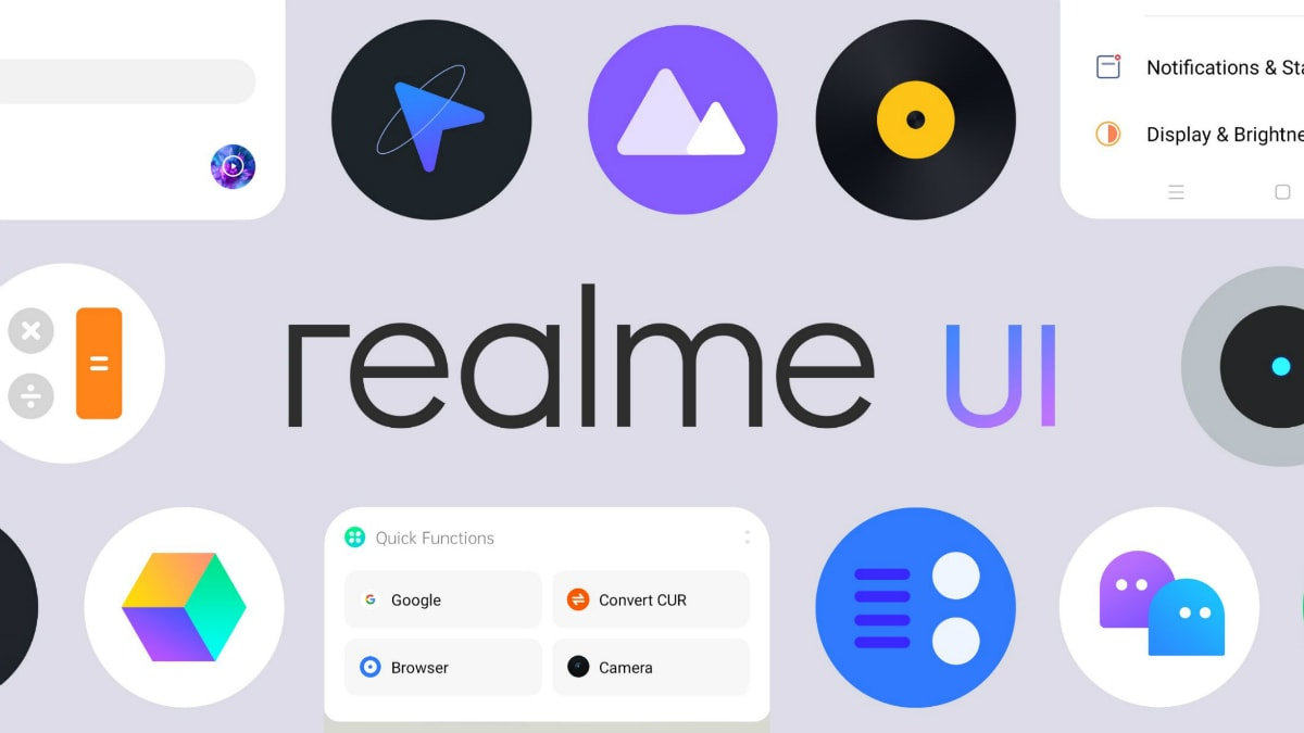 Realme UI Detailed Ahead of Its Official Rollout, Tweaks ColorOS 7 With New Customisations