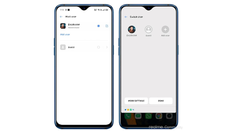 Realme Tipped to Be Working on Multi-User Support for Android 10-Based Realme UI Users