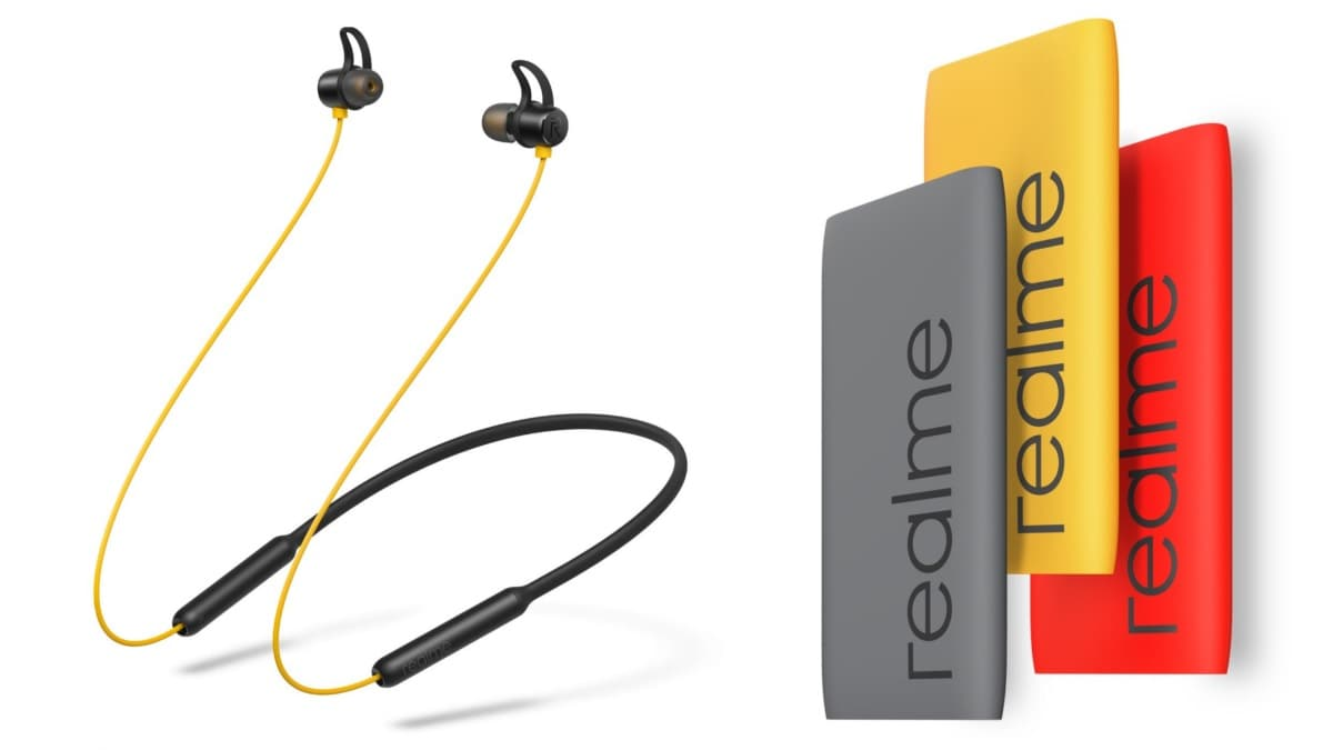 Realme Buds Wireless Bluetooth Earphones With Magnetic Control Realme Power Bank Launched In India Technology News
