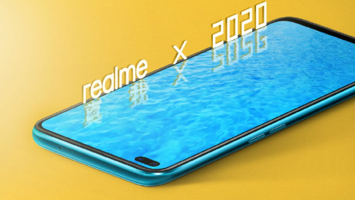 Realme X50 5G Teaser Shows Off Phone's Front, Reveals Pill-Shaped Dual Selfie Camera Module