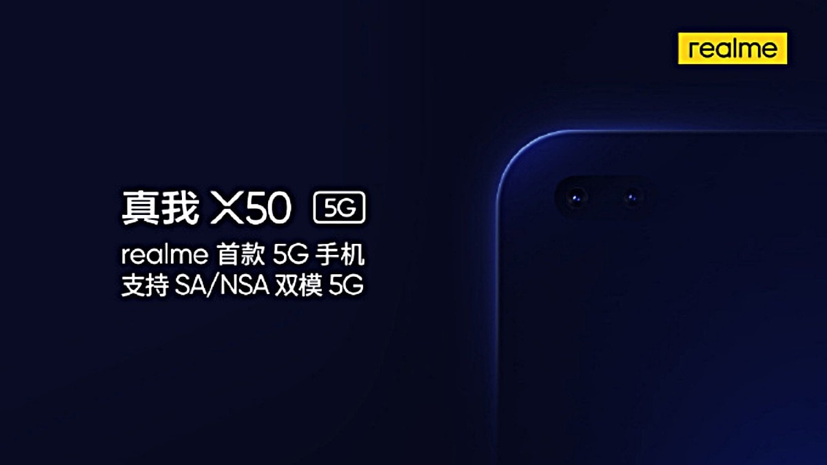 Realme X50 With Dual-Mode 5G Support Confirmed to Launch Soon, Sports Hole-Punch Design With Two Selfie Cameras
