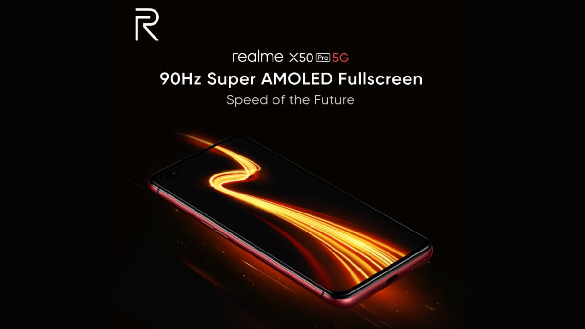 Realme X50 Pro 5G features a 90Hz Super AMOLED display