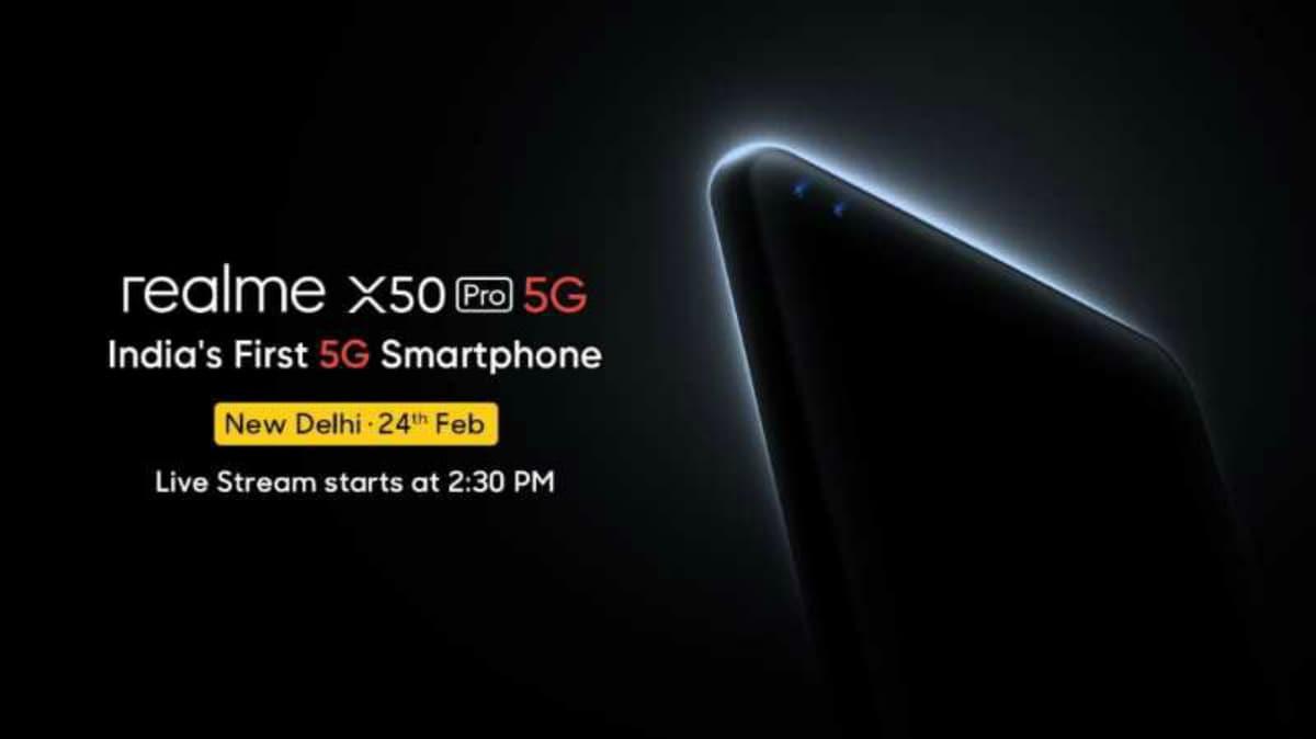 Realme X50 Pro 5G होगा भारत का पहला 5जी फोन, इस दिन होगा लॉन्च
