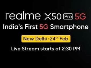 আজ ভারতে আসছে Realme X50 Pro 5G; দেশের প্রথম 5G ফোন লঞ্চ সরাসরি দেখবেন কীভাবে?
