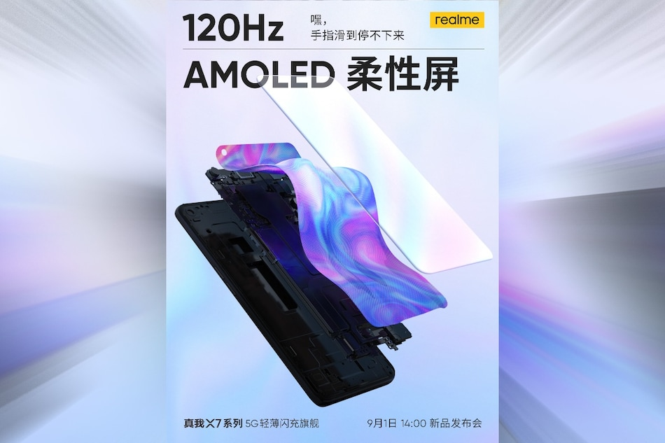 Realme X7, Realme X7 Pro Set to Launch on September 1, 120Hz AMOLED Display Teased