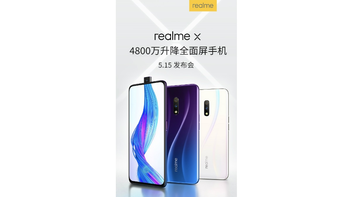realme x pop up selfie camera teaser weibo Realme X