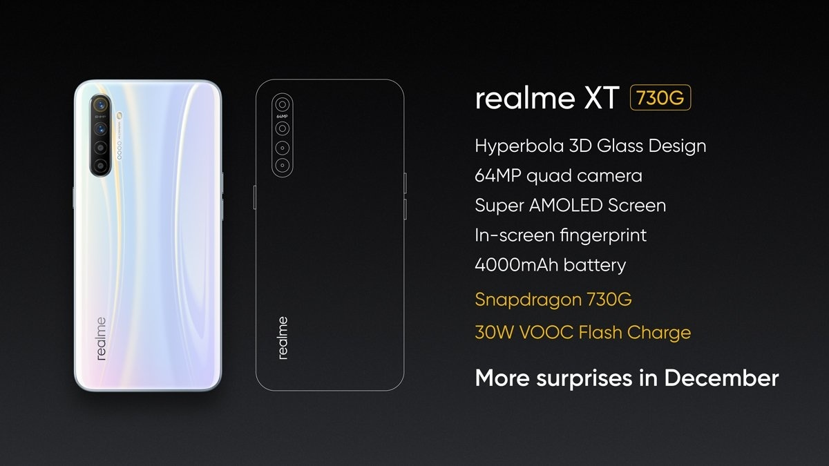 Realme XT 730G With Snapdragon 730G SoC, 64-Megapixel Quad-Camera Setup Unveiled