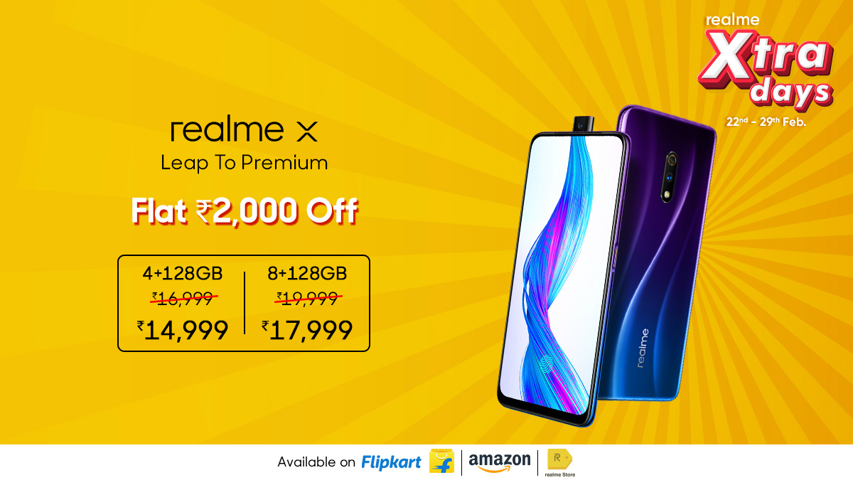 Realme X, Realme XT, Realme 5 Pro See Price Cuts of Up to Rs. 2,000 in New Sale