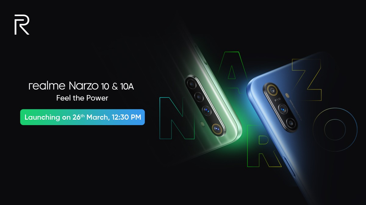 Realme Narzo 10, Realme Narzo 10A Phones Set to Launch on March 26 in India, Specifications Teased