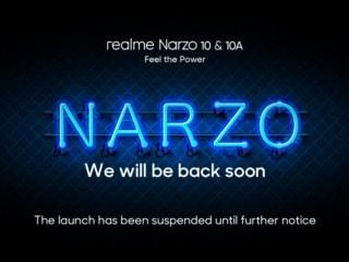 Realme Postpones Narzo 10 Series Launch in India Indefinitely