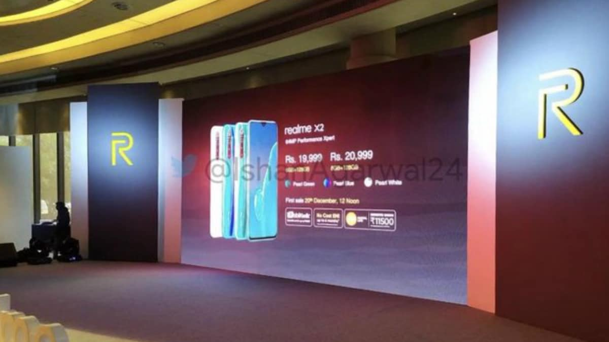 Realme X2 Price in India, Storage Variants, Colour Options Leaked Ahead of Launch