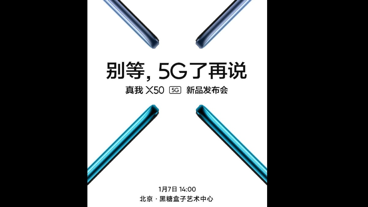 Realme X50 5G Launch Date is Set to be January 7